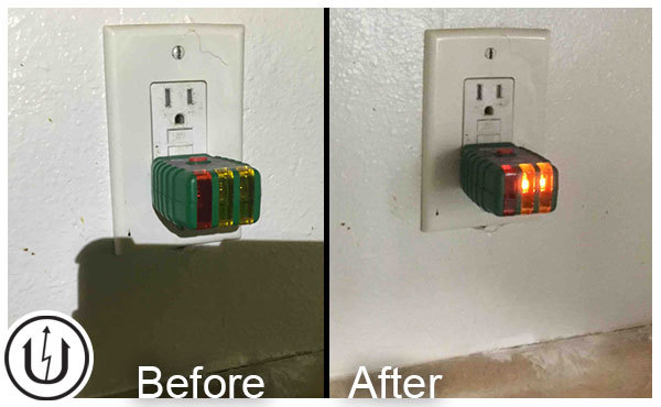 Replaced Bad Outlet and GFCI.